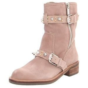 SAM EDELMAN ADELE SPIKE COMBAT ANKLE BOOTS